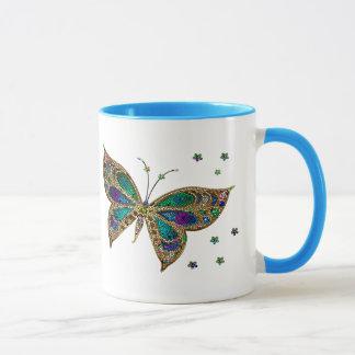 Coffee Mug--Mosaic Butterfly Mug