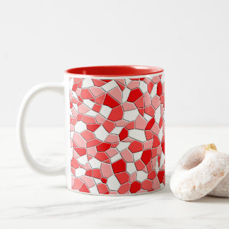 Coffee Mug - Shades of Red Mosaic
