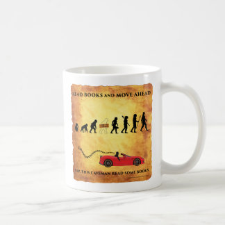 Coffee Mug This Smart Caveman Reads Books