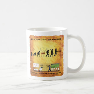 Coffee Mug This Smart Cavewoman Does Science