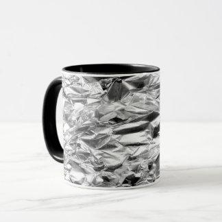 COFFEE MUG Tin Foil Silver Metal Aluminum Pattern