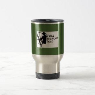 COFFEE MUG/TRAVEL MUG GIRL BOWHUNTER