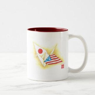 Coffee Mug Two Tone ~ Japan-U.S. Friendship