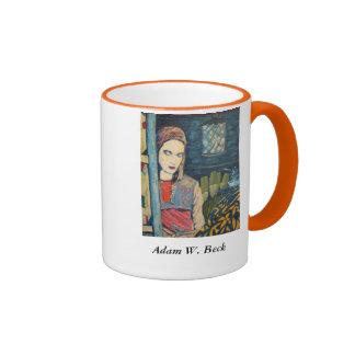 Coffee mug, two-tone ringer mug