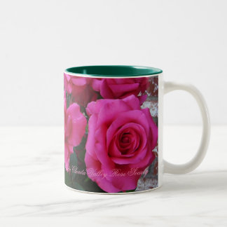 Coffee Mug Two-Tone with Pink Roses