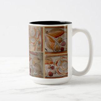 Coffee Mug Vintage Mexican pottery mosaic design