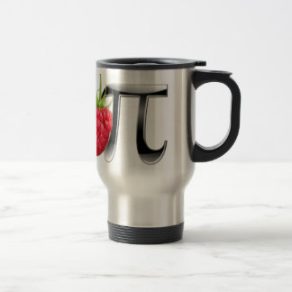 Coffee Mug with a Raspberry and Pi logo