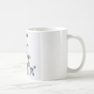 coffee mug with an image of a caffeine molecule