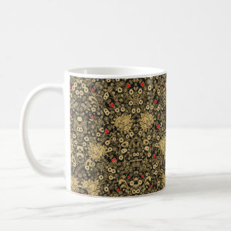 COFFEE MUG WITH BAROQUE STYLE AND HEARTS DESIGN