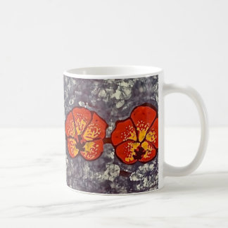 Coffee Mug with Batik Humming Bird