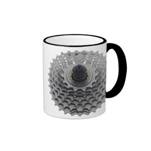 Coffee Mug with Bike Sprocket