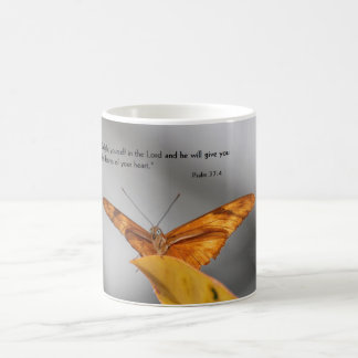 coffee mug with butterfly