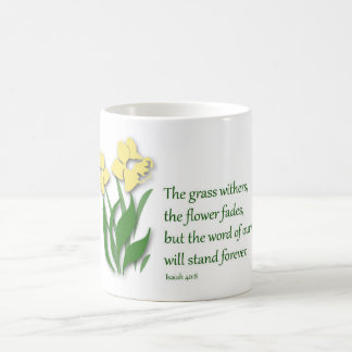 Coffee Mug with Christian Design - Isaiah 40:8