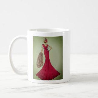 Coffee mug with Fashion Illustration