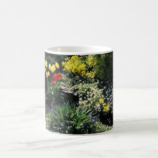 coffee mug with flower garden