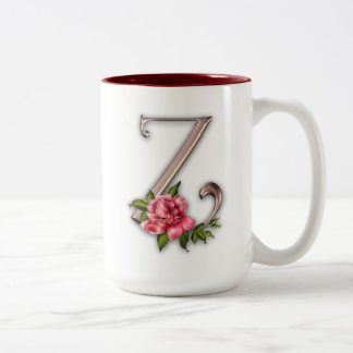 Coffee Mug with Gorgeous Ornate Initial Z
