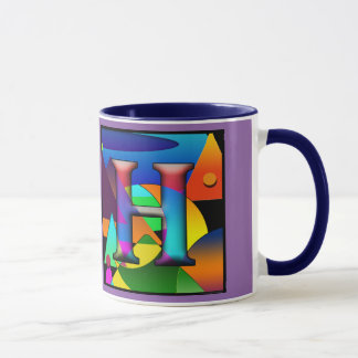 Coffee mug with initials E & H