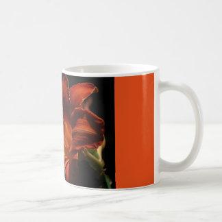 coffee mug with red lily