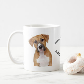 Coffee Mug With Showing A Dog With Concerns!