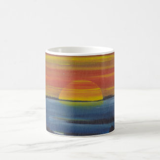 coffee mug with sunset