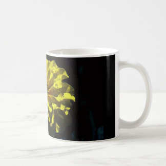 coffee mug with yellow flower