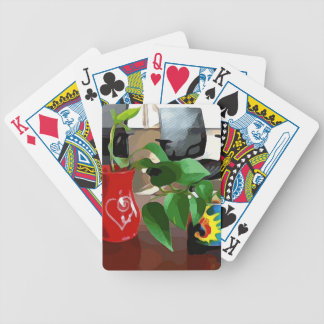 Coffee Mugs and Plants Bicycle Playing Cards