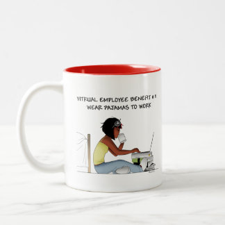 Coffee mugs for virtual workers