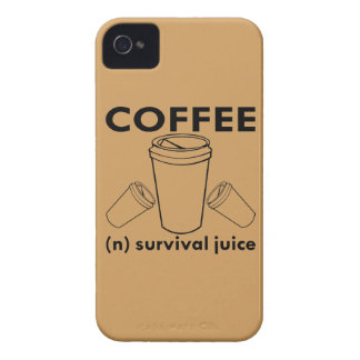 Coffee (n) Survival Juice iPhone 4 Case-Mate Cases