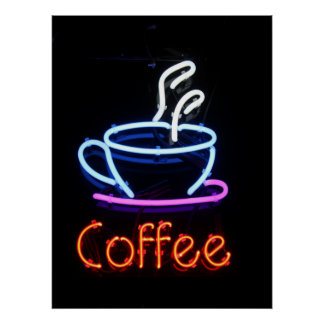 Coffee Neon Sign Poster