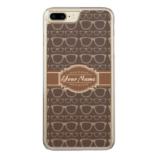 Coffee Nerd Hipster Glasses Carved iPhone 7 Plus Case