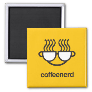 Coffee Nerd yellow magnet