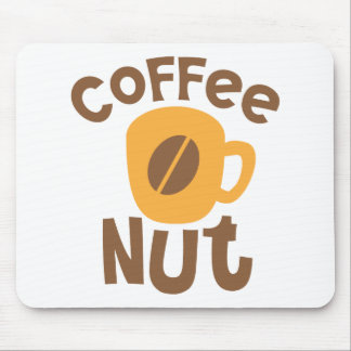 Coffee Nut with coffee bean Mouse Pad