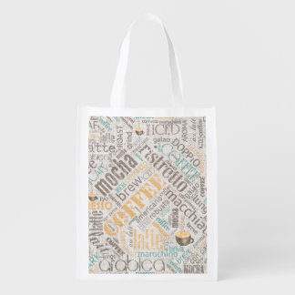 Coffee on Burlap Word Cloud Teal ID283