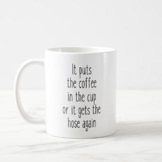 Coffee or hose coffee mug