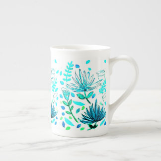 Coffee or Tea Mug with floral motif.