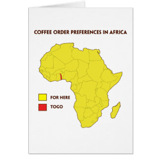 Coffee order preference in Africa Card