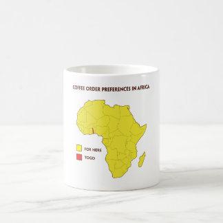Coffee order preference in Africa Coffee Mug