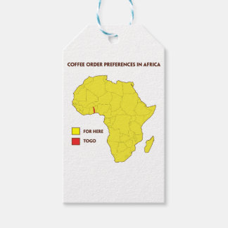 Coffee order preference in Africa Gift Tags