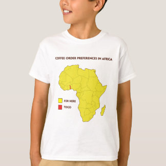 Coffee order preference in Africa T-Shirt