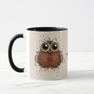 Coffee Owl custom name mugs