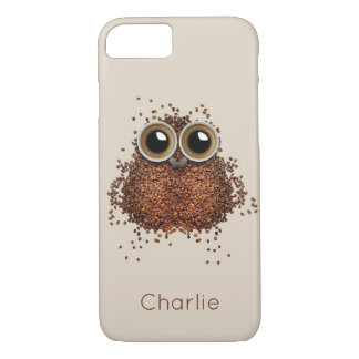Coffee Owl custom name phone cases