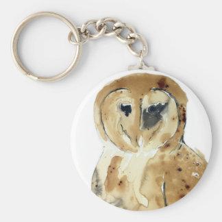 Coffee Owl Key Ring