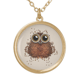 Coffee Owl necklace