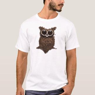Coffee Owl White T-Shirt