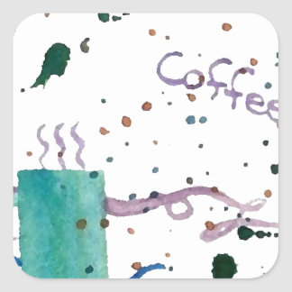 Coffee Party Morning After Java CricketDiane Square Sticker
