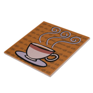 Coffee - Pastel Mug Design Tile/Trivet Large Square Tile