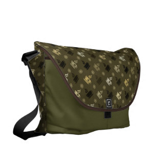Coffee Pattern Courier Bags