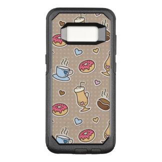 Coffee pattern OtterBox commuter samsung galaxy s8 case