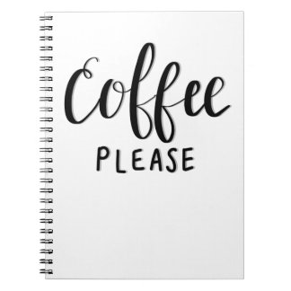 COFFEE PLEASE Calligraphy Notebook