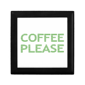 COFFEE PLEASE - strips - green and white. Gift Box